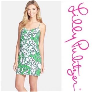 Lilly Pulitzer Dusk Silk Dress Shape Up Ship Out S